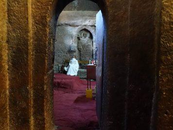 Zugang zur Golgatha Kirche, Lalibela, Äthiopien